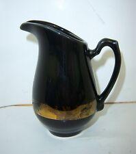 VINTAGE Black Homer Laughlin Creamer-Gold Detail-USA