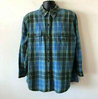 Lauren Ralph Lauren Plaid Check Flannel Shirt Outdoor Workshirt Men's Large L