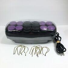 Conair Hot Rollers Curlers 12 Ceramic Super Jumbo Heat Pageant Prom Purple Black