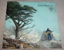 1964 JOAN BAEZ ~5~ FOLK ROCK LP on AMADEO RECORD LABEL *Made in Austria*