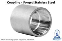 """Coupling 3"""" 3000# Forged Stainless Steel 304/304L Threaded Pipe Fitting"""