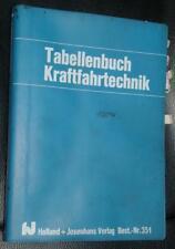 Lehrbuch Tabellenbuch Kraftfahrtechnik 15. Auflage 1985 Best.-Nr. 351