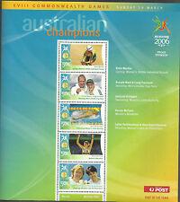 AUSTRALIA 2006 COMMONWEALTH GAMES GOLD MEDAL Souvenir Sheet No 6 MNH