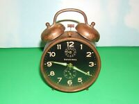 Vintage GUILD HALL West Germany Mechanical Alarm Clock