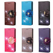 3D Flower Stand Leather Card Wallet Case Cover For Huawei Y7 2019 Moto G7 LG K40