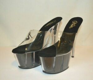 "Pleaser Adore-701-4 Series 7"" Heel Sexy Exotic Platform Slide Size 12"