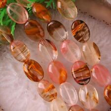 "10x14mm Watermelon Tourmaline Gemstones Oval loose Beads 15"" ##R063"