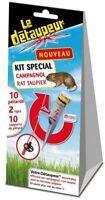 KIT SPECIAL ANTI CAMPAGNOL RAT TAUPIER A ADPATER SUR DETAUPEUR 2 tige 10 pétards