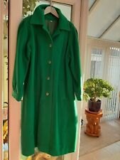 Ladies emerald green coat size 12 used
