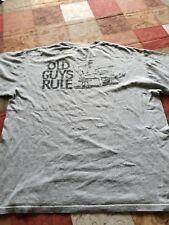 OLD GUY'S RULE BRAND T-SHIRT LARGE REDNECK RECLINER BEER T.V. REMOTE GRAY