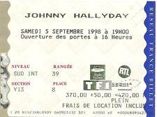 RARE / TICKET DE CONCERT LIVE - JOHNNY HALLYDAY AU STADE DE FRANCE - PARIS 1998