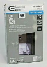 Commercial Electric Bronze Outdoor Integrated LED Wall Pack Light with 2500 Lu