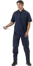Black & Navy Short Sleeve Military Flight Suit Air Force Style Flight Coveralls
