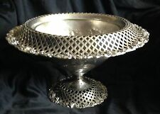 Antique Silver Plated Victorian Barbour Fruit Basket  Compote