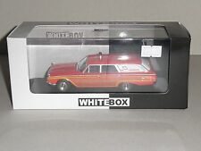 WHITEBOX.WHI 181, FORD AMBLEWAGON 1964 (AMBULANCE) , RED & WHITE 1 OF 1000 PCS.