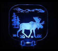 Blue Moose Night Light