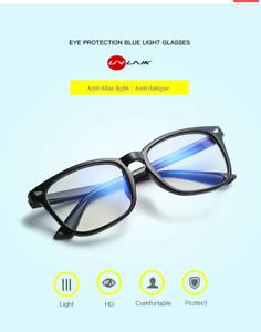 UVLAIK Blue Light Glasses UNISEX Computer Glasses Gaming Goggles Transparent Eye