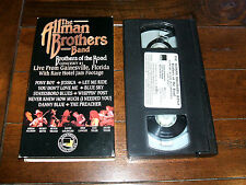 The Allman Brothers Band - Brothers Of The Road #1 VHS TAPE LIVE Gainsville EXC
