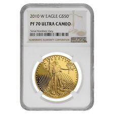 2010 W 1 Oz 50 Proof Gold American Eagle Ngc Pf 70 Ucam