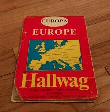 Vintage Europa Europe Hallwag Carte Routiere Carta Stradale Edition Map Berne
