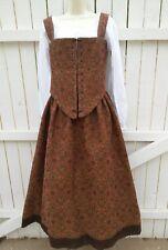 "Used custom handmade renaissance dress red brown ""Starburst"""