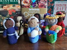 Hand Knitted Multicultural Christmas Nativity Set