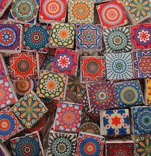 Ceramic Mosaic Tiles - Vintage Multi Colors Medallions Moroccan Tile Mosaic