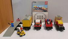 Lego 7735 Eisenbahn 12V Güterzug Herkules + Waggons inkl. Original Bauanleitung