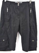 Jamie Sadock black bermuda shorts capri knee pants cargo walking crop 4 VTG NEW