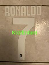 Flocage Nameset Ronaldo #7 Juventus 2019-2020 Home Domicile. Pour Enfant For Kid