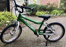 """Green WOOM 3 Kids 16"""" Bike"""