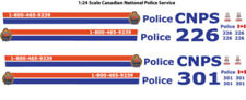 1:24 DECALS CNPS CANADIAN NATIONAL RAILWAY POLICE MOTORMAX FORD CROWN VICTORIA
