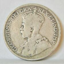 CANADA George V: 1919 silver 25 Cents, toned about F