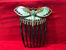 BUTTERFLY HANDMADE BIG HAIR COMB SOLD NATIONAL GEOGRAPHIC MADE IN FRANCE