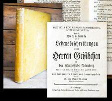 1780 Franken Nürnberg Fürth Altdorf Biographien-Sammlung Waldau Diptycha