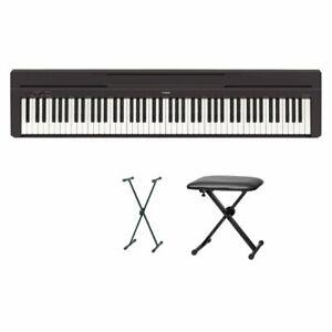 Yamaha P-45 Digital Piano Bundle VI With x Stand And Bank