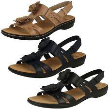 0df5777ef22 Ladies Clarks Flower Detailed Sandals Leisa Claytin UK 5 Sand Leather D