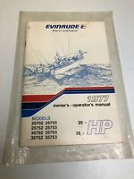 Vintage 1977 Evinrude Owners Manual 25 35 HP Models 25702 OEM Repair Shop