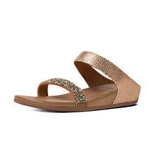39197a7ba156 FitFlop Banda Roxy Crystal Slide Women s Sandals Bronze UK 6.5 -