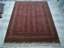 F2280 Antique Area Afghan Turkoman Qunduzi Rug, Area Handmade Rug 10 x 13'2 Feet