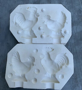 Vintage  Ceramic Mold - Riverview Rooster And Hen