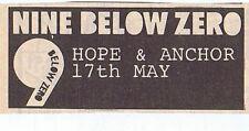 NINE BELOW ZERO - HOPE & ANCHOR  press clipping 1980 (17/05/80)