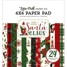 CHRISTMAS SANTA Collection Scrapbooking 6x6 IN Paper Pad 24 Sheet Echo Park NEW
