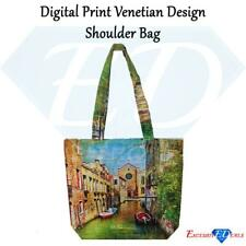 Digital Print Canvas Painted Venetian Design Shoulder Bag (FB-24)