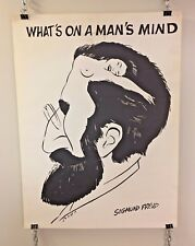 Vintage VTG What's on a Man's Mind Sigmund Freud Poster Bob Dara Original 1970