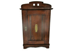 hand Carved Wood  Medicine Apothecary Bathroom Cabinet Ornate Lovely Brass Trim