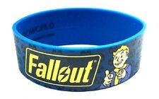 BLUE FALLOUT VAULT BOY THUMBS UP LOGO WRISTBAND SILICONE RUBBER BRACELET RETRO