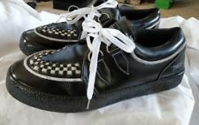 Draven  Mens Black / leather Low Top Skateboard Shoes Size 8