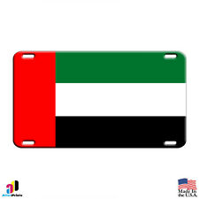 Dubai UAE Arab Emirates Country Flag Aluminum Metal Novelty License Plate Tag