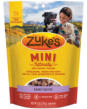 Zuke's Mini Natural Healthy Moist Wild Rabbit Recipe Dog Training Treats 6 oz